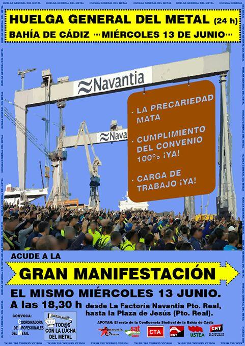 TODO EL METAL, A LA HUELGA GENERAL EL 13 DE JUNIO. Comunicado en solidaridad de Intersindical de Aragón