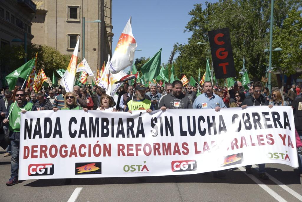 1º de Mayo 2017. Zaragoza. NADA CAMBIARA SIN LUCHA OBRERA