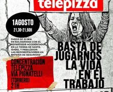 ¡¡EXITOSOS PAROS EN TELEPIZZA!! CONCENTRACION EN TIENDA DE TORRERO EN ZARAGOZA