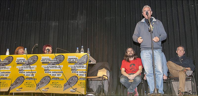 """Exitosa presentación en Aragón de las Marchas por la Dignidad: """"si el gobierno tiene el poder, el Pueblo tiene la unidad"""""""