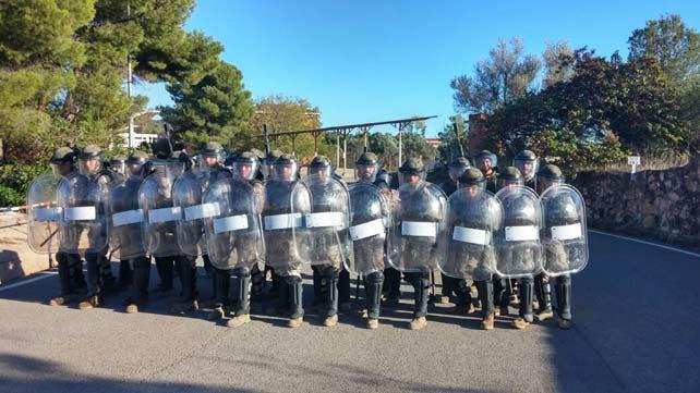 Caza de brujas en el cuartel que reveló las imágenes del entrenamiento antidisturbios