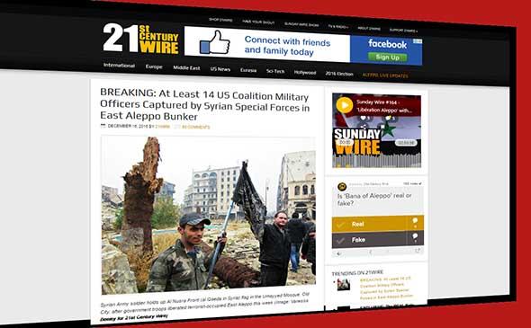 Mentiras de occidente sobre Siria, igual que las armas de destrucción masiva en Irak.
