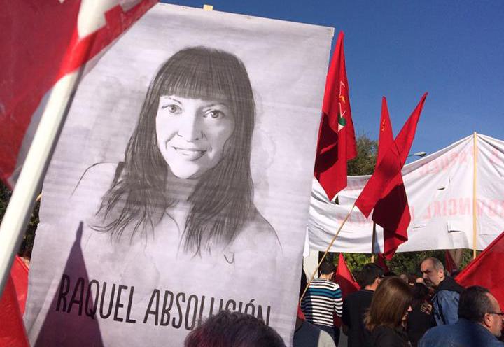 Zaragoza se volverá a concentrar contra el juicio a Raquel Tenías