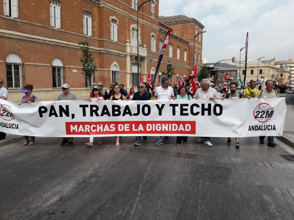 Marchas de la Dignidad de Málaga movilizaciones 30J. Video  yfotos