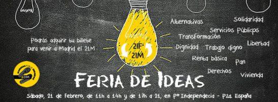 Feria de Ideas por la Dignidad, sábado 21 de febrero, Zaragoza