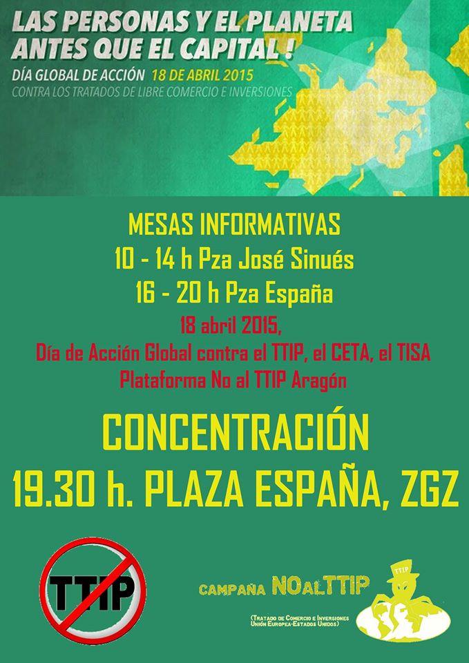 NO al TTIP. movilización estatal el 18 de abril