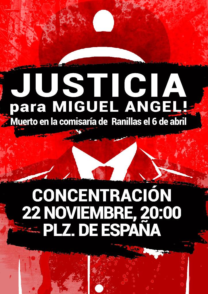 JUSTICIA PARA MIGUEL ANGEL. UNDECIMA CONCENTRACION, MARTES 22 DE NOVIEMBRE
