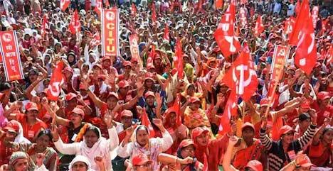 La lucha es el único camino. INDIA. 200 Millones de trabajadores en huelga reclaman fuera la exclavitud de Inditex, El Corte Ingles…