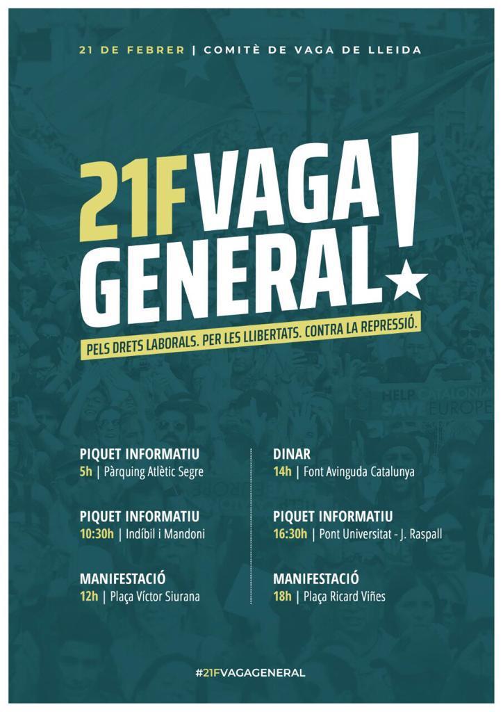 21F  VAGA GENERAL EN CATALUNYA