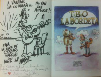 Nuestro amigo y admirado ilustrador Carlos Azagra nos ha dedicado un ejemplar del libro TeBeO Labordeta