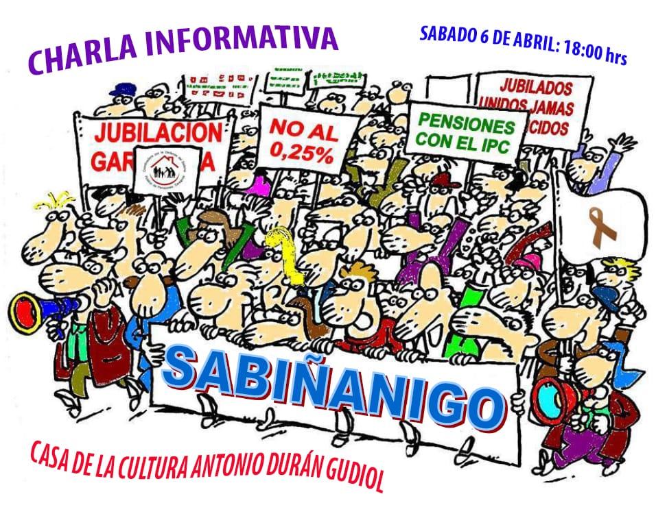 Charla informativa de pensiones en Sabiñanigo. Sábado 6 de Abril