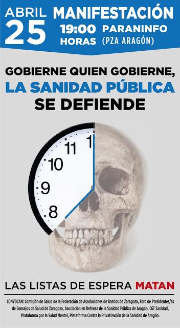 Manifestación 25 Abril: «Gobierne quien gobierne, la Sanidad Pública se defiende»
