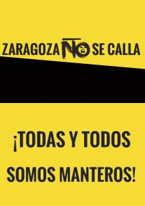 Zaragoza no se calla, todas y todos somos manteros.II