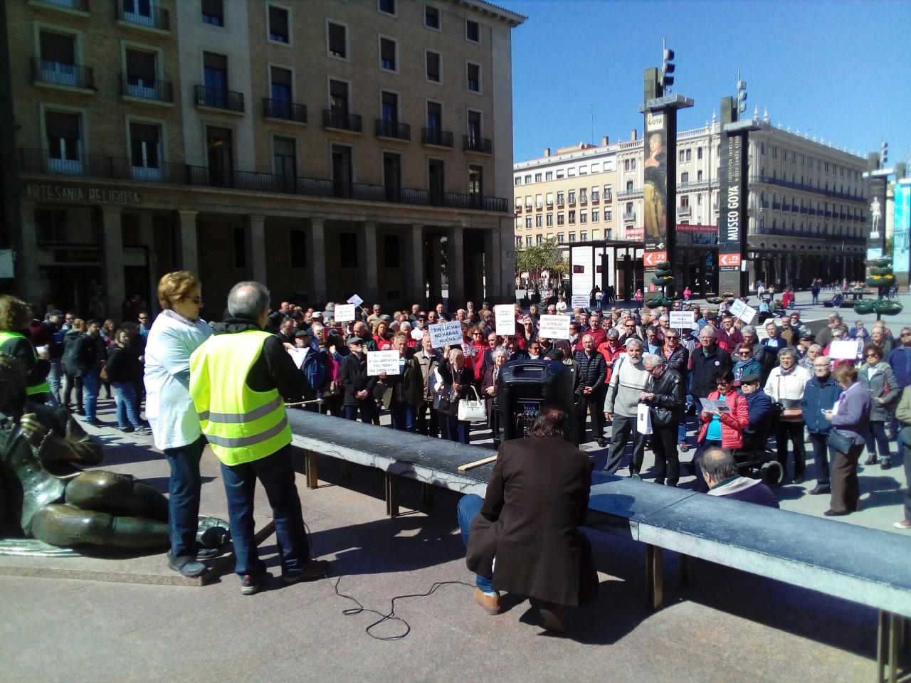 Zaragoza. Movilización a nivel estatal,13 de Abril. ¡¡Gobierne quien gobierne las pensiones se defienden!!
