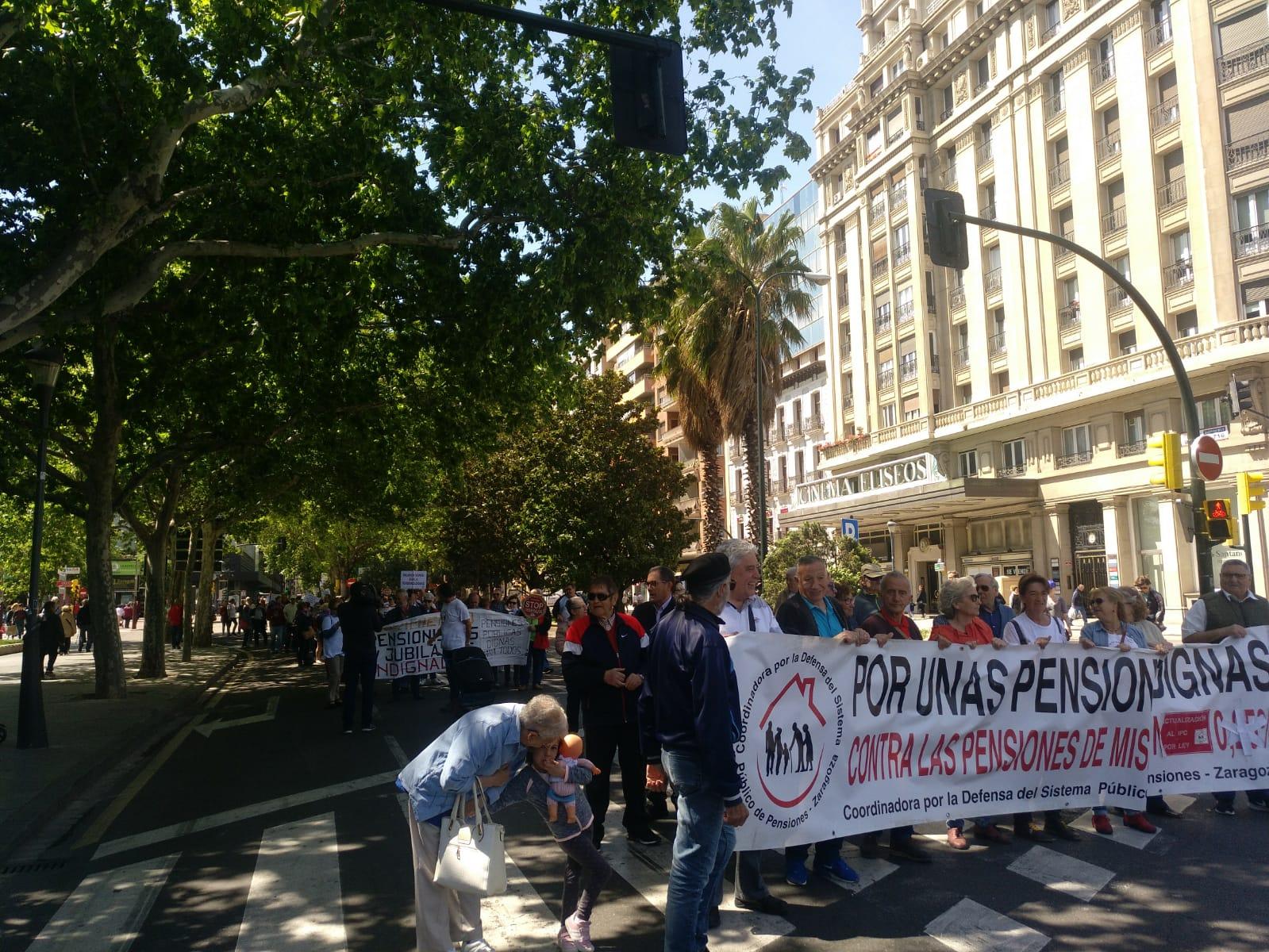 Zaragoza. Video y fotos manifestación por las pensiones públicas