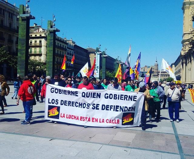 Videos y fotos. 1º de Mayo. Zaragoza. Gobierne quien gobierne los derechos se defienden. La lucha es el único camino
