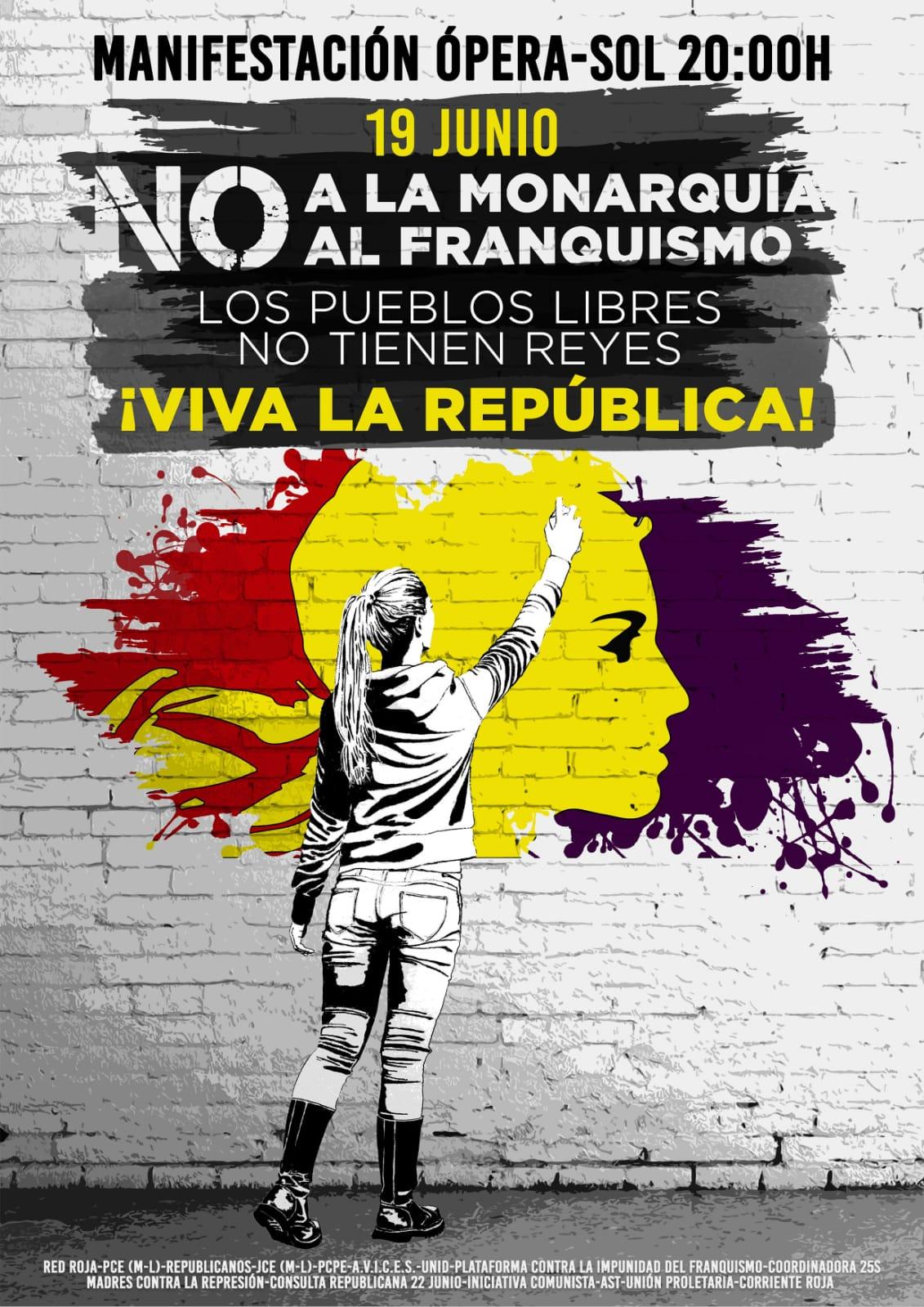 Manifestación por la República. V Aniversario Coronación
