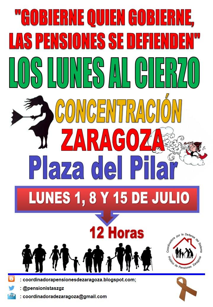 Lunes al Cierzo, 8 de Julio. Gobierne quien gobierne las pensiones se defienden