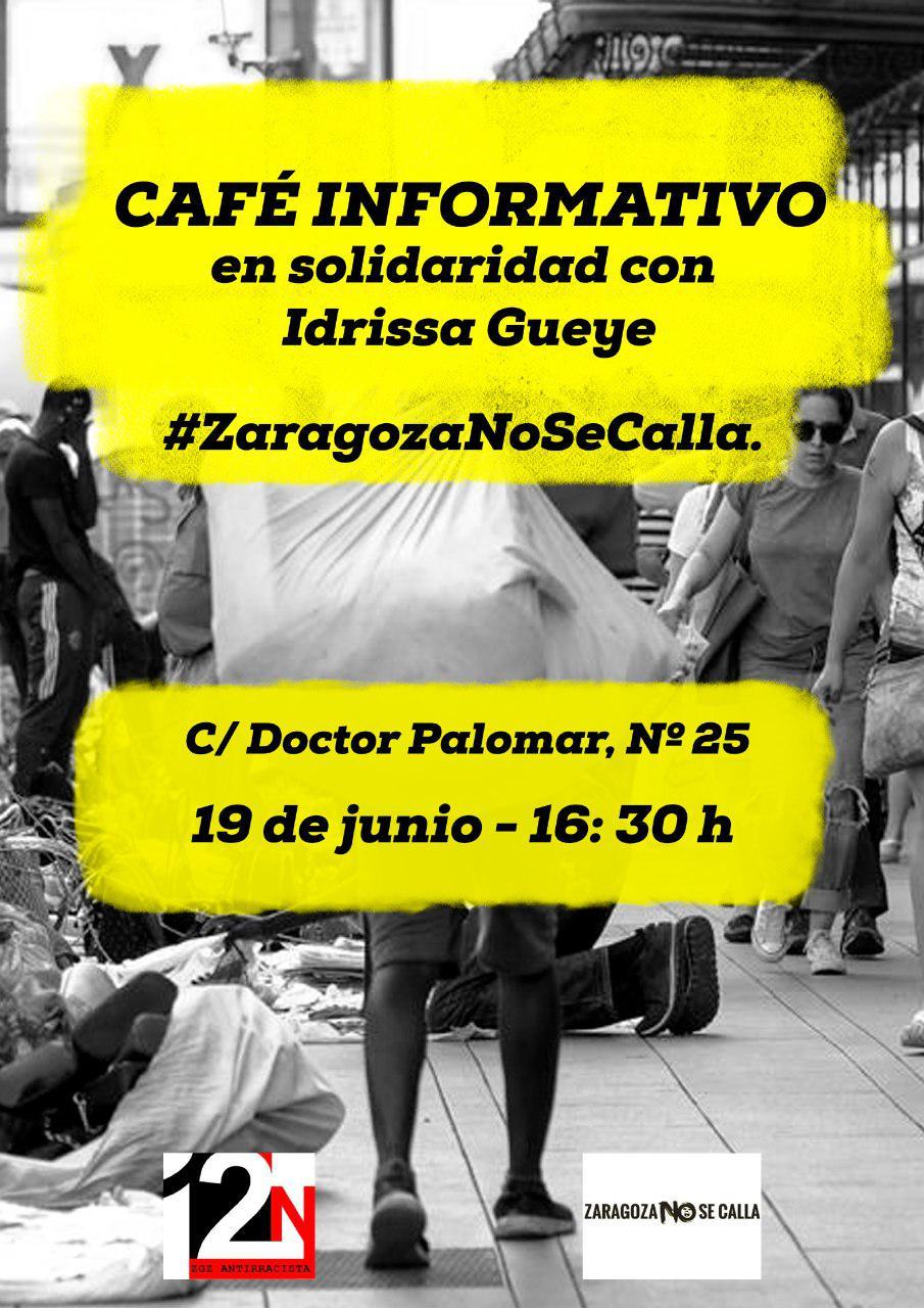 Café informativo en Solidaridad con Idrissa Gueye