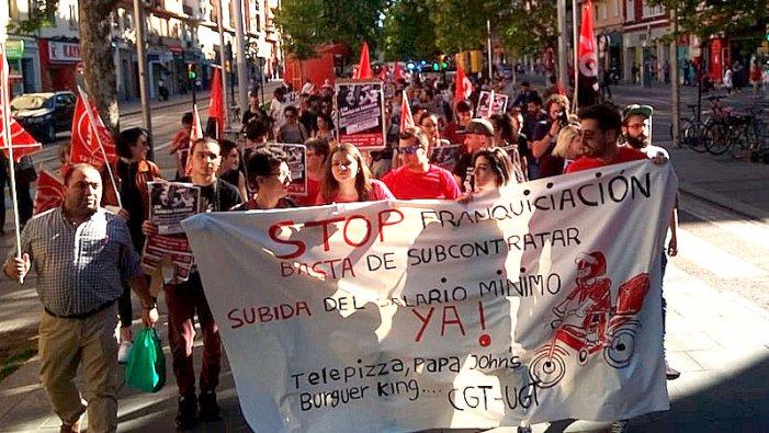 La huelga de Telepizza por la no subida del SMI, ejemplo de lucha contra la precariedad