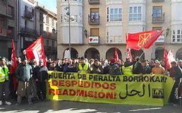 Protesta frente al Palacio de Justicia por la pena de carcel impuesta a un miembro de LAB