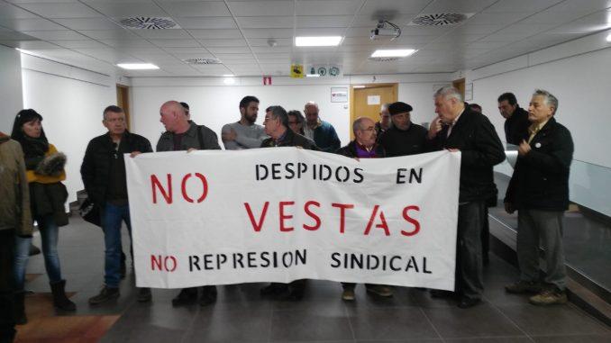 Intersindical de Aragón en Vestas informa. Dura represión sindical.