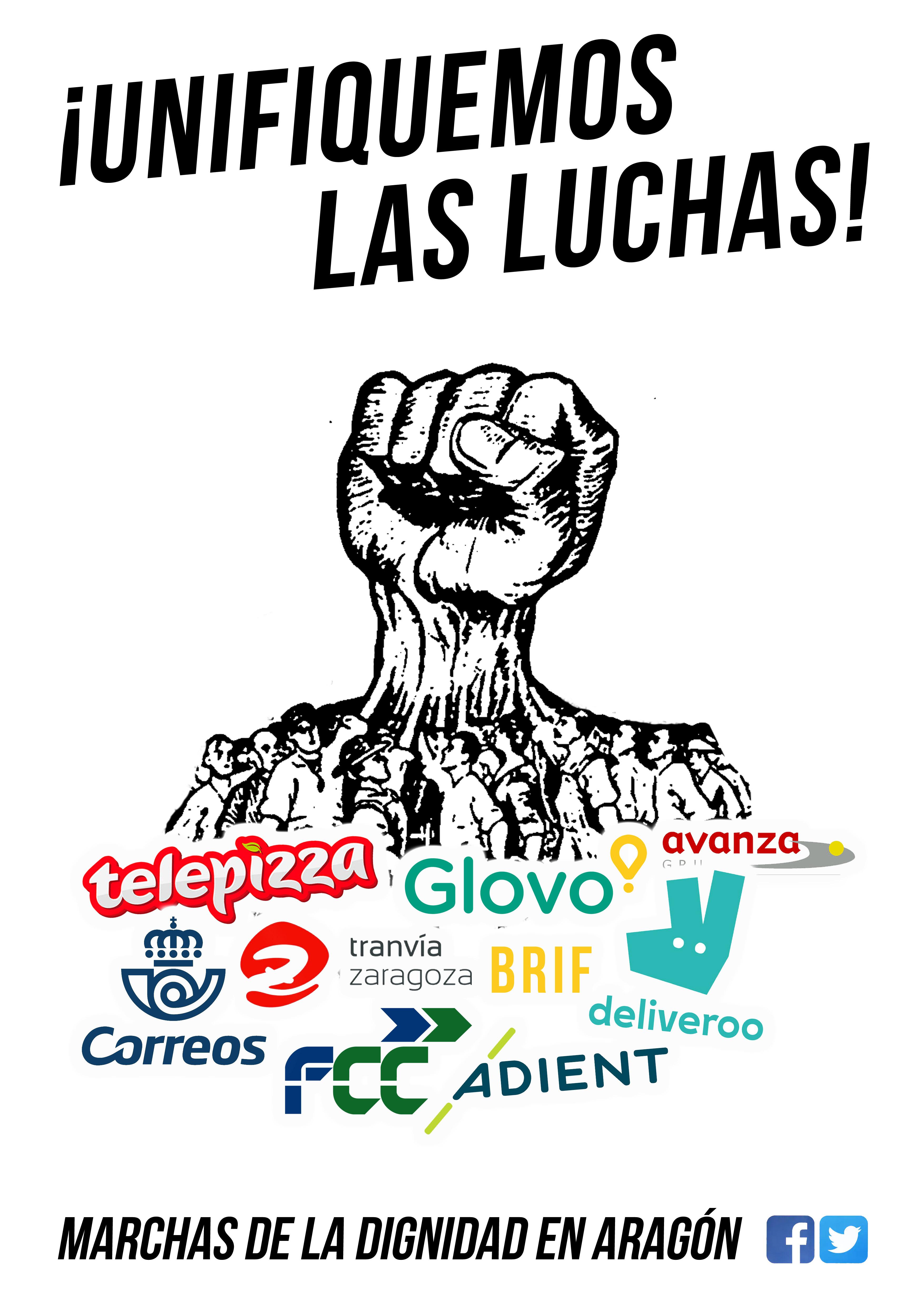 Llamamiento a la unificación de las luchas y en apoyo a los trabajadores de Telepizza.