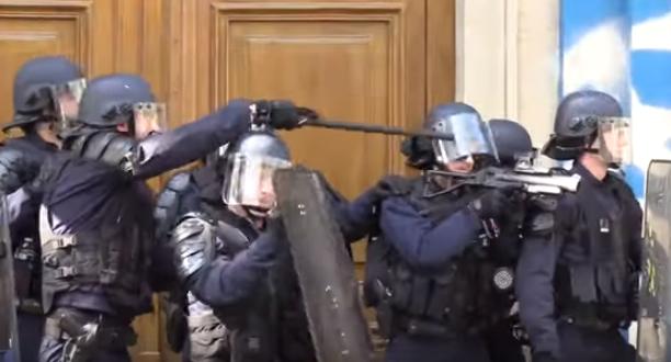 FRANCIA. Dura represión contra las protestas; 163 detenidos y decenas de heridos