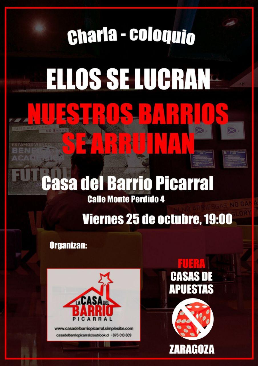 Charla-coloquio. Fuera Casas de Apuestas. 25/10/2019