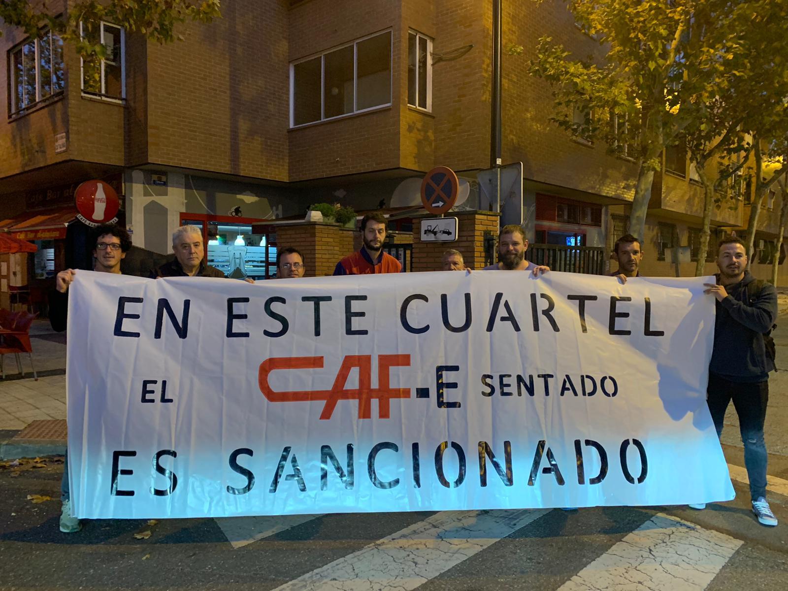 En este cuartel el CAF-e sentado es sancionado. GTI-IA, CAF-Zaragoza