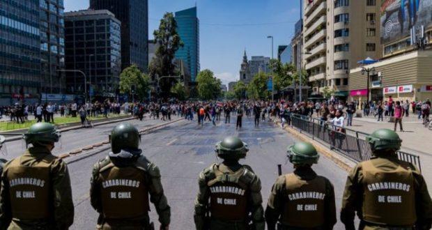 Chile no es portada (incluimos enlace a la página recién abierta «Represión en Chile»)