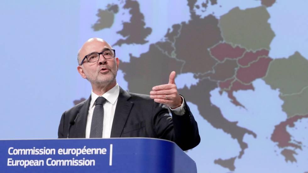 Bruselas apercibe a España por el riesgo de rebasar el déficit y la deuda