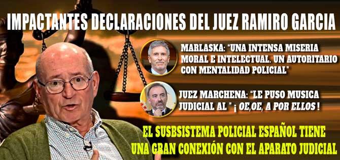 JUEZ RAMIRO GARCÍA: «HAY RAZONES PARA TEMER UNA DERIVA AUTORITARIA EN ESPAÑA» (VÍDEO)