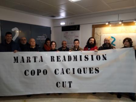Represión sindical en COPO contra el sindicato CUT.