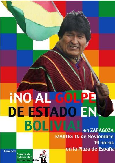 Zaragoza, martes 19N. Contra el golpe de estado en Bolivia