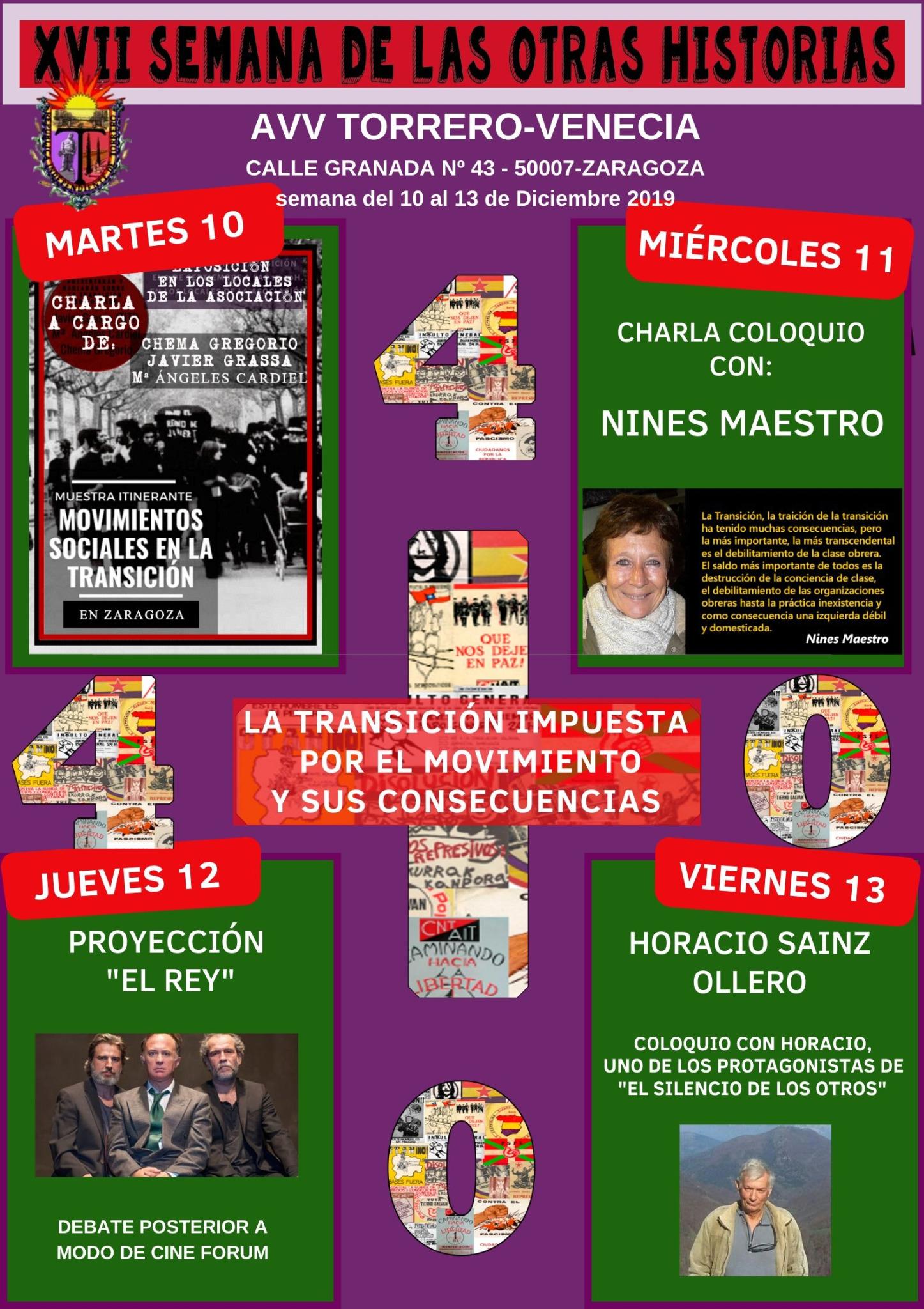 Zaragoza. XVII SEMANA DE LAS OTRAS HISTORIAS