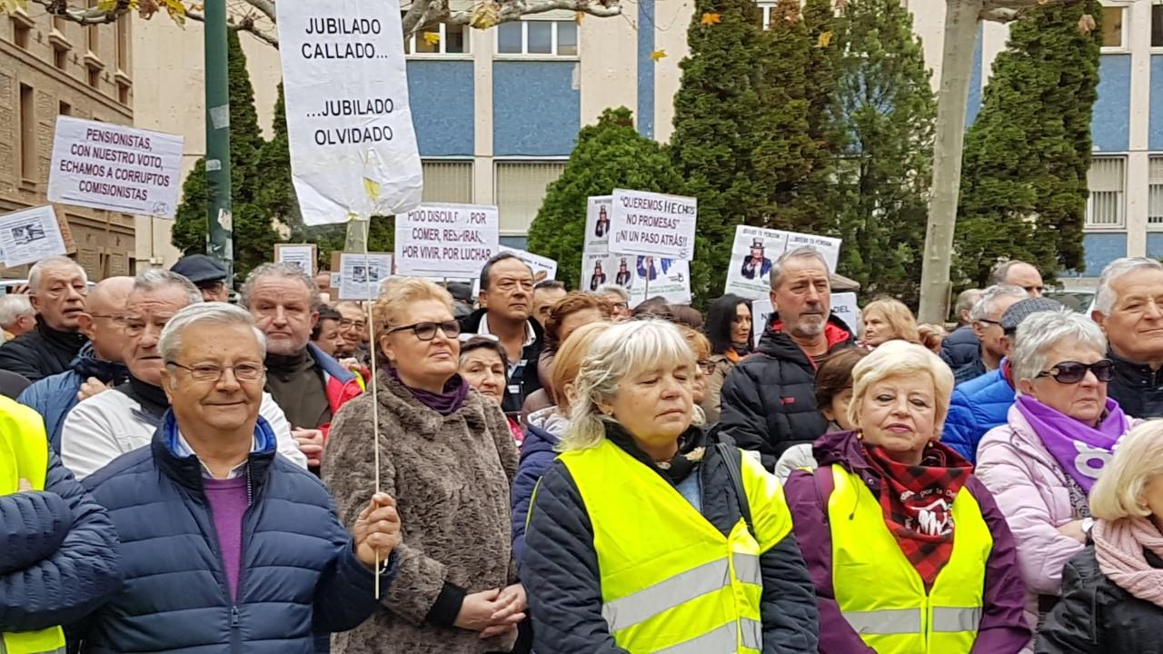 Zaragoza 16D-2019, Videos y fotos. ¡¡La lucha continua hasta vencer!!. ¡¡Gobierne quien gobierne las pensiones se defienden!!