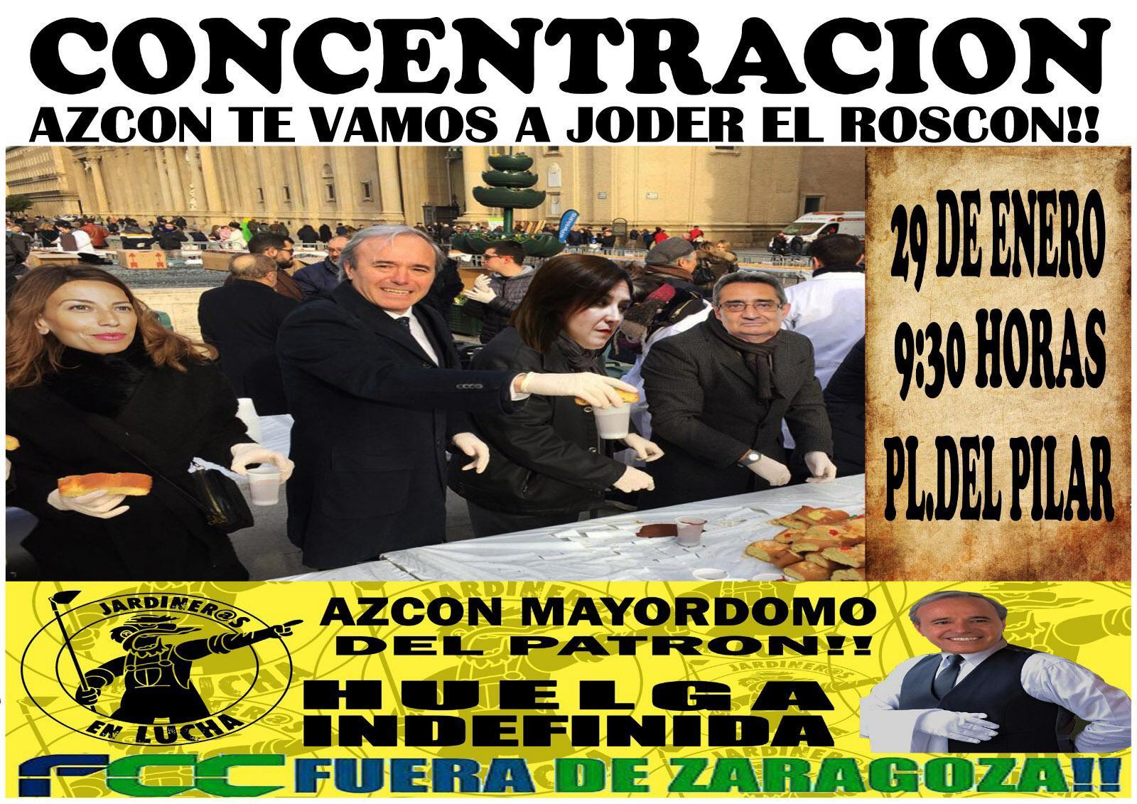 """"""" LAS Y LOS JARDINEROS ENCARAN SU SEGUNDA SEMANA DE HUELGA CON UNA ESPIRAL DE PROTESTAS CONTRA EL ALCALDE AZCON """""""