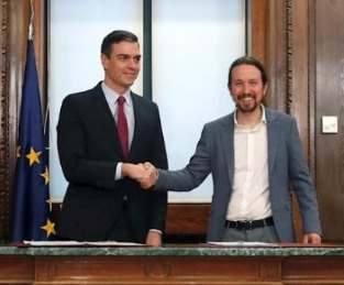 Sánchez e Iglesias se topan con la austeridad: entra en vigor la reforma del artículo 135