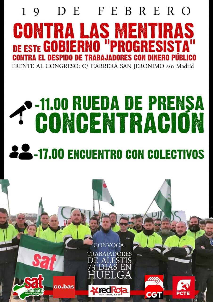 19-F: Alestis se manifestará en Madrid