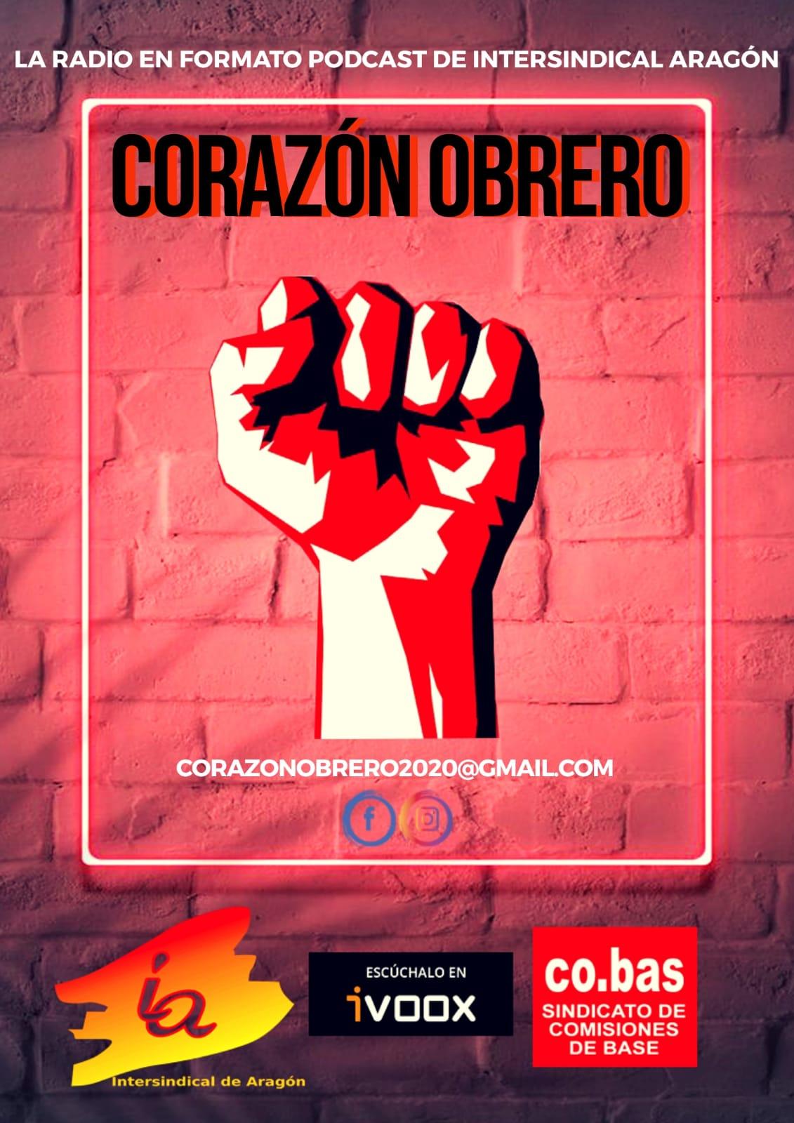 Comienza la andadura de la radio de Intersindical de Aragón-Cobas. «CORAZON OBRERO, EL CORAZON DE TOD@S»