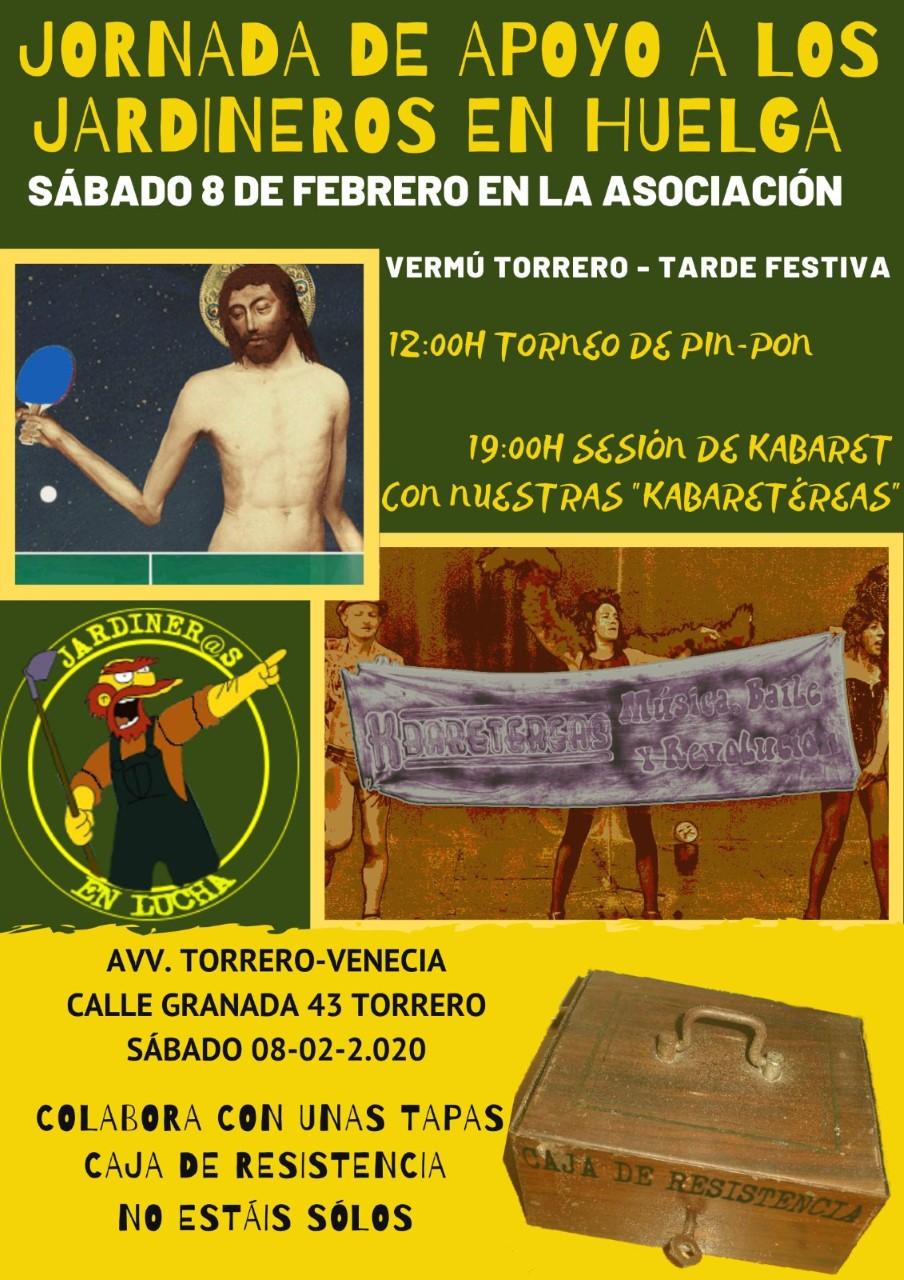 JORNADA DE APOYO A LOS JARDINER@S EN HUELGA. SABADO 8F
