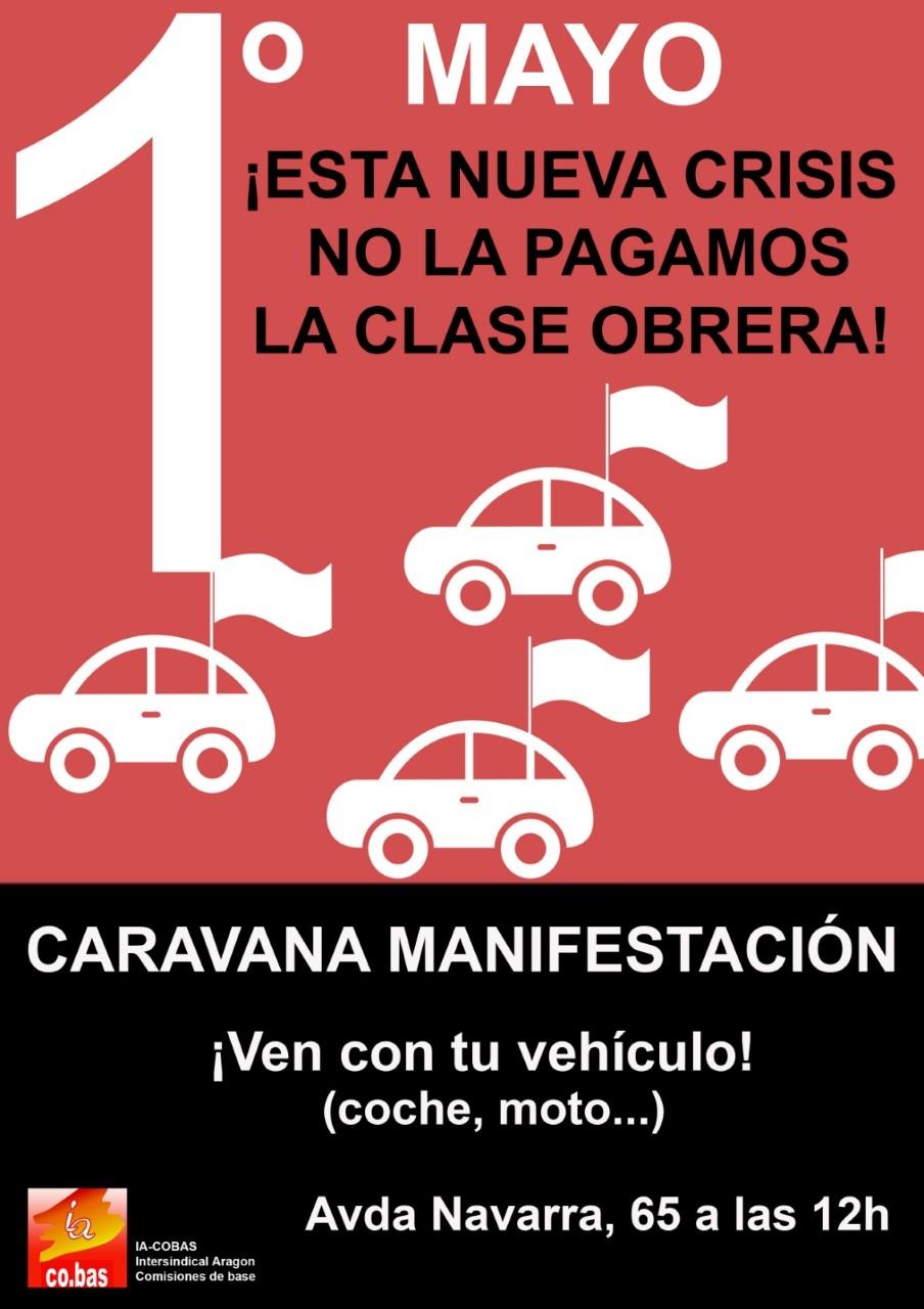Intersindical de Aragón-co.bas recurre la decisión de prohibición de la manifestación con vehículos del 1º de Mayo de 2020