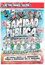 Zaragoza. Gran manifestación por la sanidad pública. Privatizar mata.