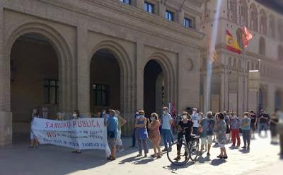 Recuperar la sanidad privada a manos públicas. Movilizaciones en Zaragoza