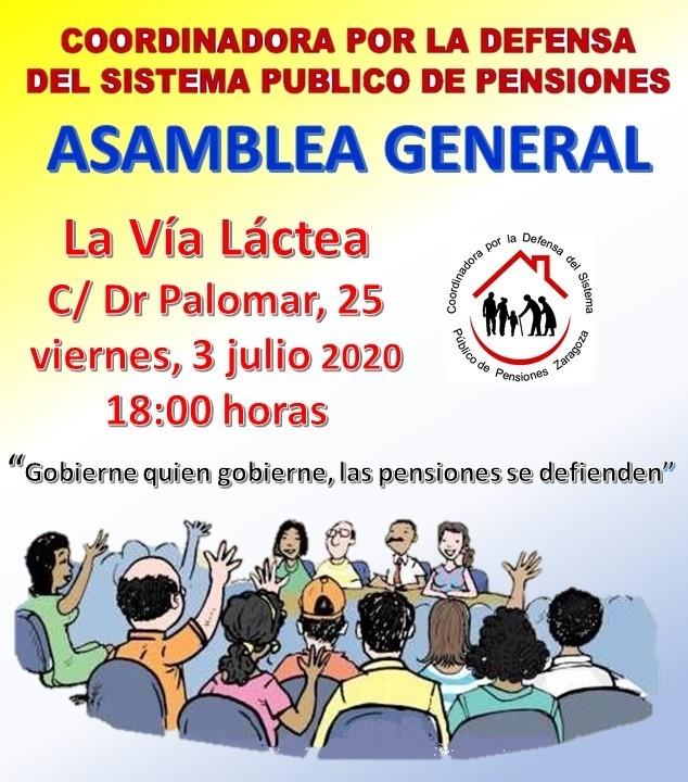 Zaragoza. Asamblea General COESPE. Viernes 03 de Julio