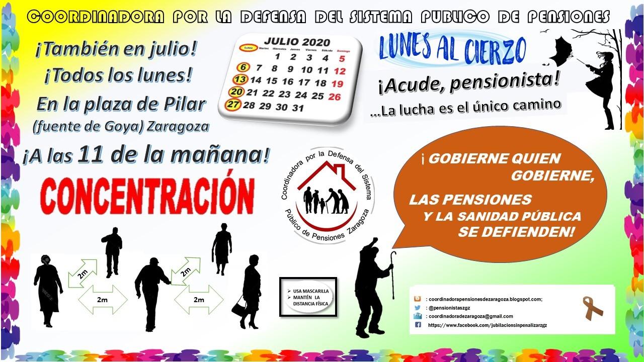 Zaragoza, 27 de julio. Lunes al cierzo. Gobierne quien gobierne la sanidad y las pensiones se defienden