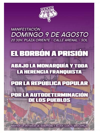 FOTOS Y CRÓNICA DE LA MANIFESTACIÓN CONTRA LA MONARQUÍA EN MADRID + noticias relacionadas