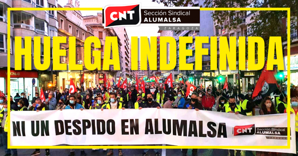 Alumalsa. Manifestación sábado 24 y Huelga indefinida a partir del domingo 25 de Octubre