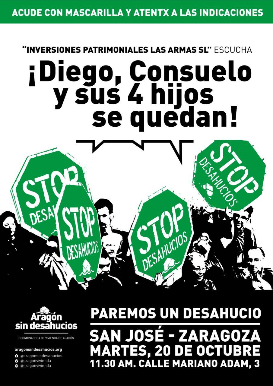 Hablan las familias: Aragón sin desahucios difunde «el calendario de la vergüenza»